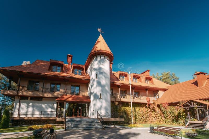 Berezinsky, riserva di biosfera, Bielorussia Hotel nella biosfera Reser fotografie stock