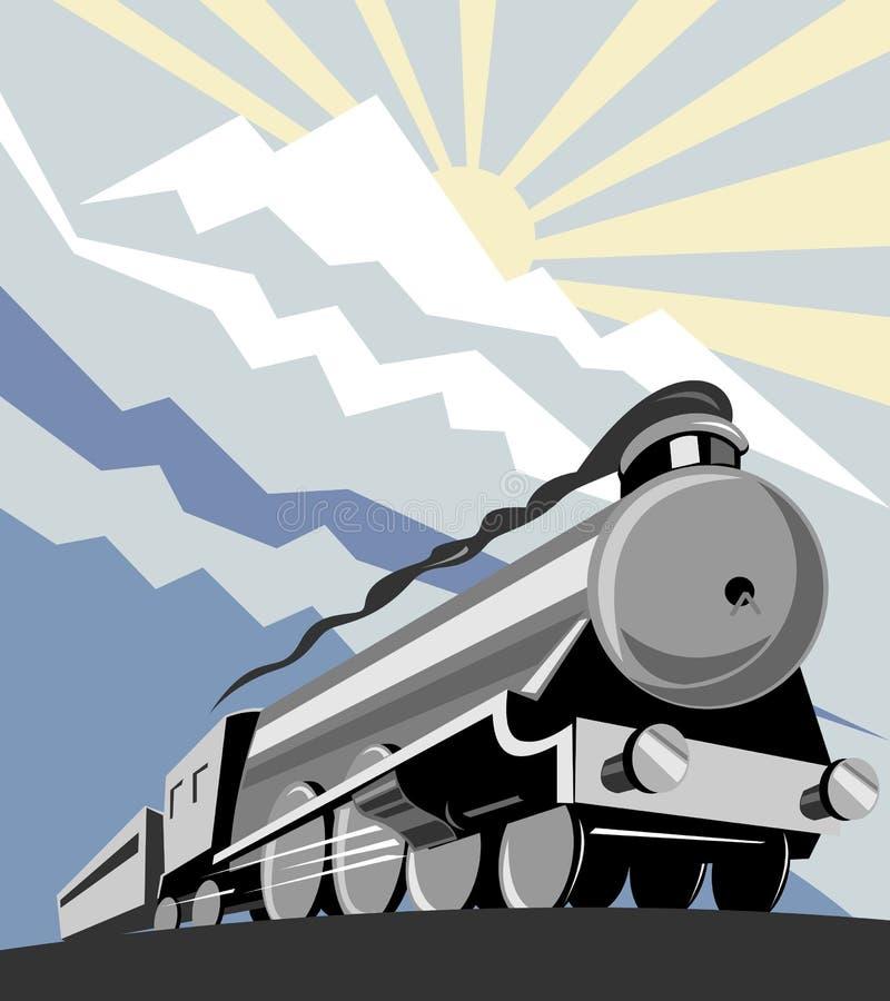 bergångadrev stock illustrationer