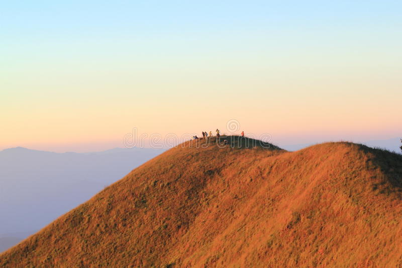 Bergöverkant i Thailand arkivbilder