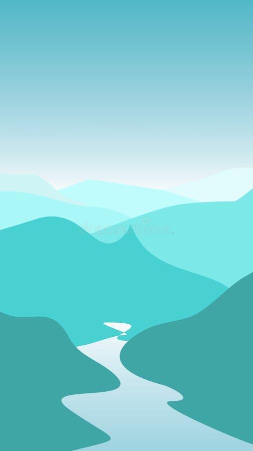 berg royaltyfri illustrationer