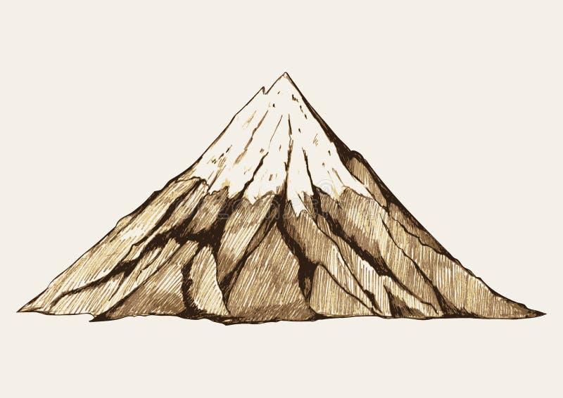 Berg stock illustrationer