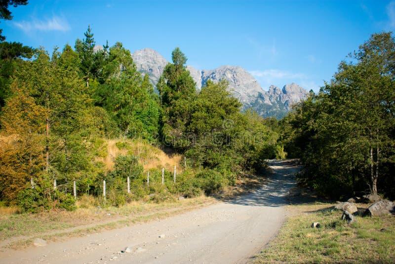 Berg, Aard en Weg stock fotografie