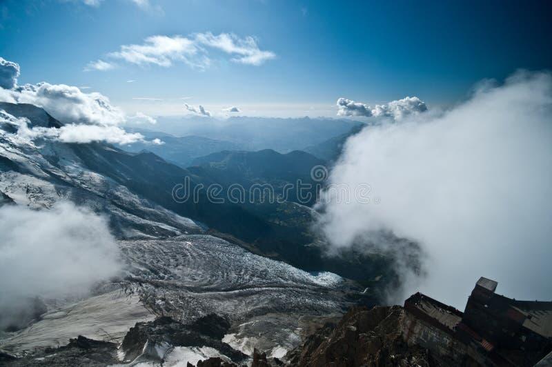 Berg Aiguille DU Midi lizenzfreie stockfotos