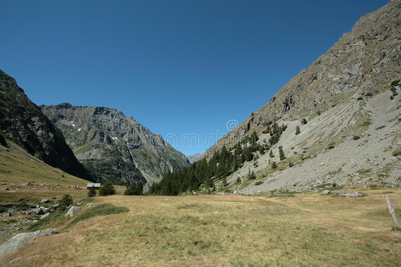 Berg in Alpen, Frankrijk royalty-vrije stock foto's