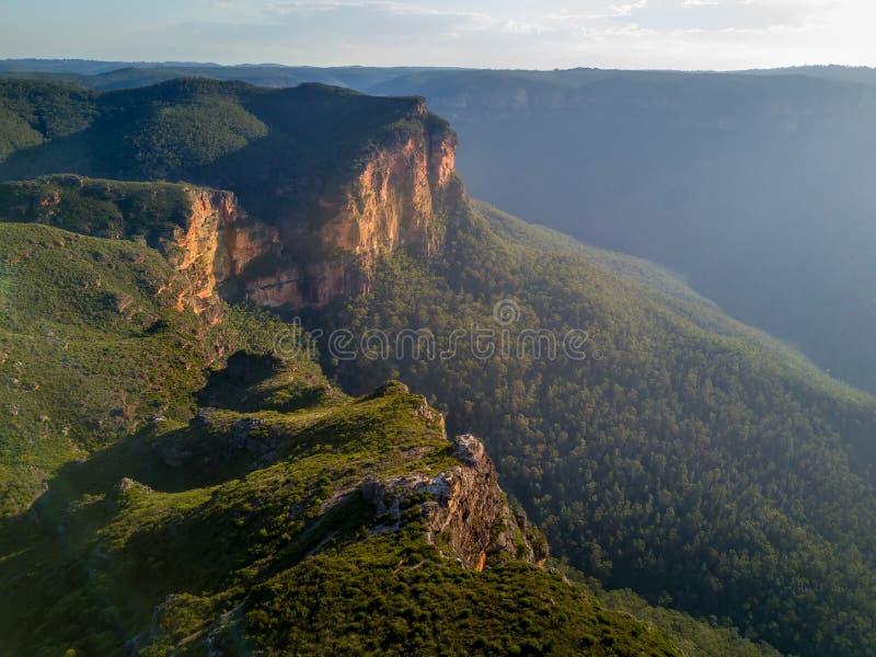Berg Australien för Govets klyftablått arkivfoto