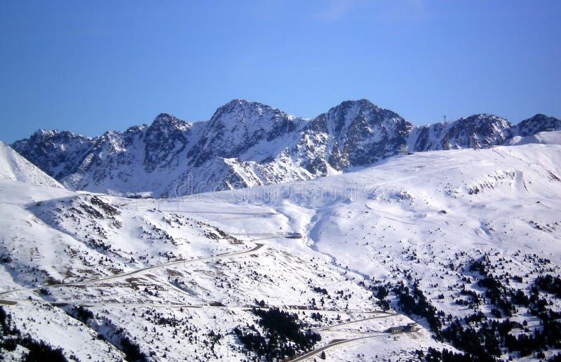 Berg av Andorra arkivbild