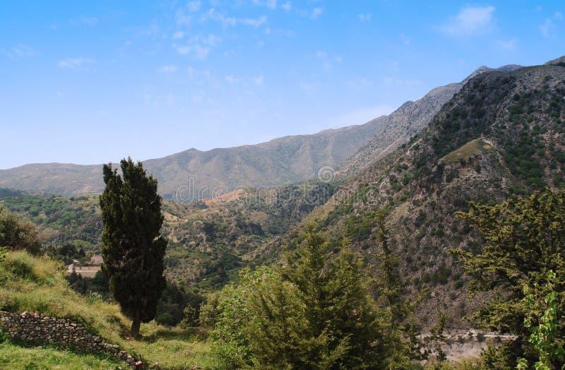 berg av den crete ön royaltyfri foto