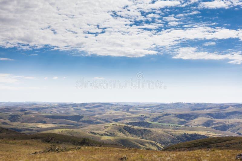 Berg av Minas Gerais State - Serra da Canastra National Par arkivbilder