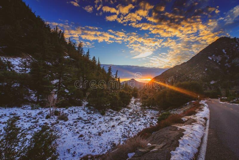 Berg Baldy-Sonnenuntergang stockbilder