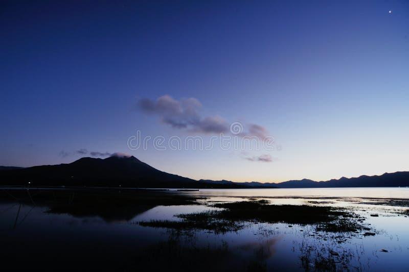 Berg Batur stockfotografie