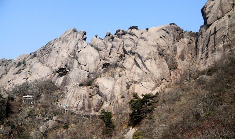 Berg in China stock afbeelding