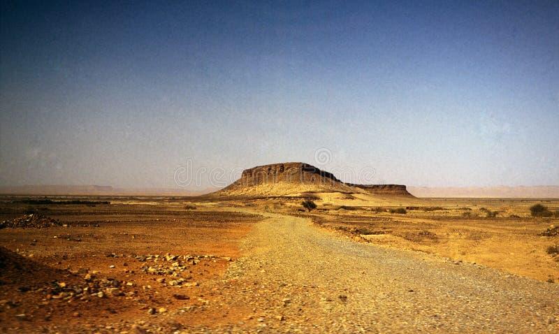 Berg in de woestijn stock foto