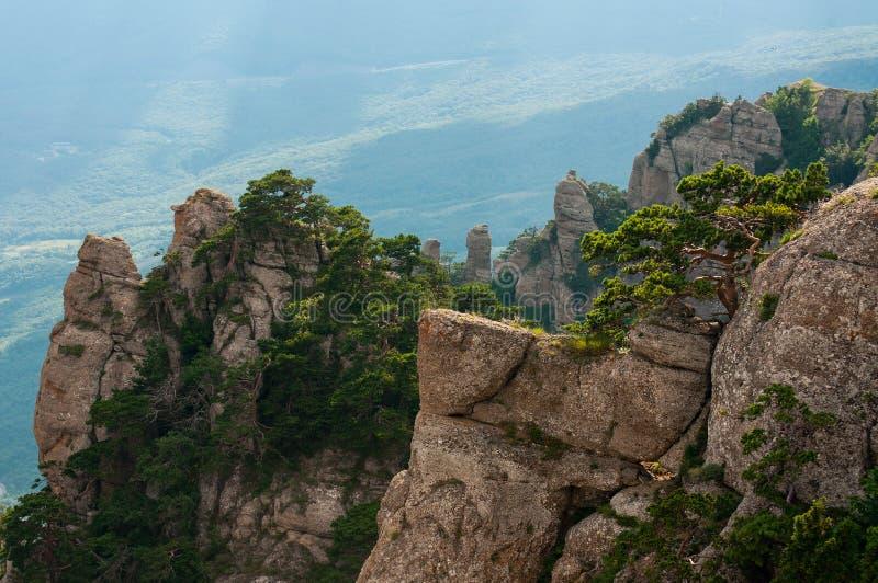 Berg Demerdzhi in de Krim stock afbeeldingen