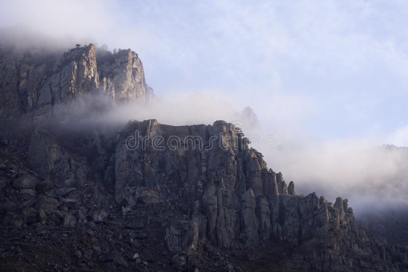Berg Demerdzhi, de Krim, de Oekraïne stock fotografie