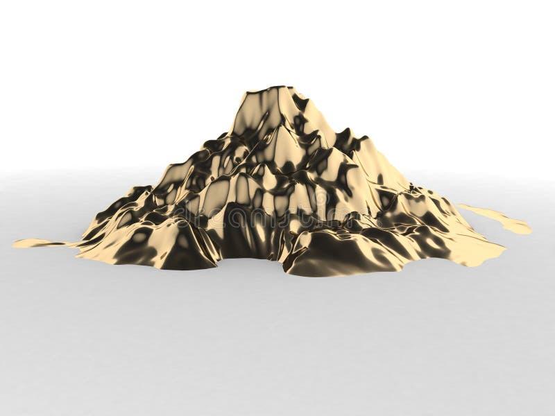 Berg des Goldes lizenzfreie stockfotos
