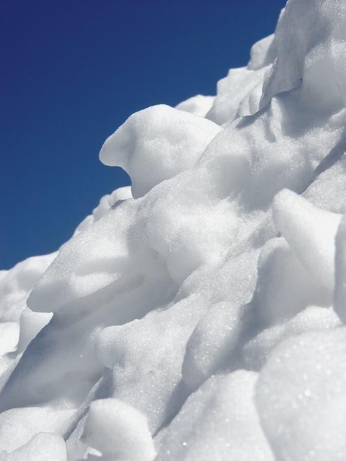 Berg des Schnees stockbild