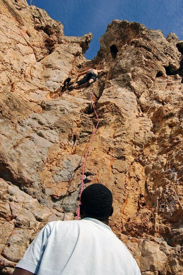 Berg die in Guia beklimt royalty-vrije stock afbeelding