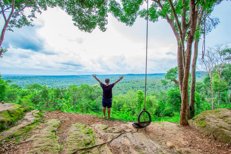 Berg die, het Beklimmen, Zonsopgang - Dawn, Wandeling, Bergbeklimming beklimmen royalty-vrije stock foto