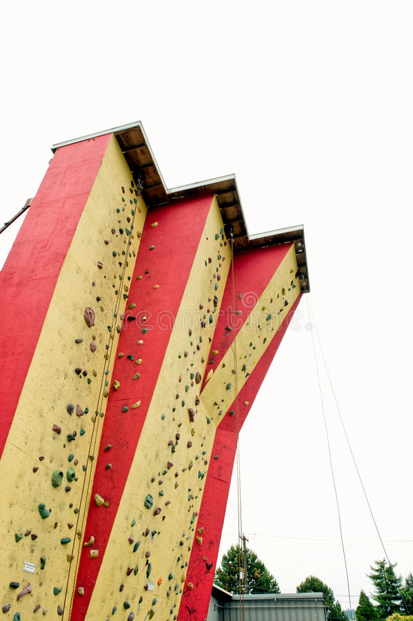 Berg die muur beklimt royalty-vrije stock fotografie