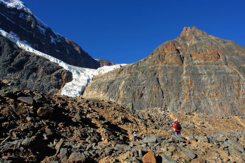 Berg Edith en gletsjer royalty-vrije stock afbeeldingen