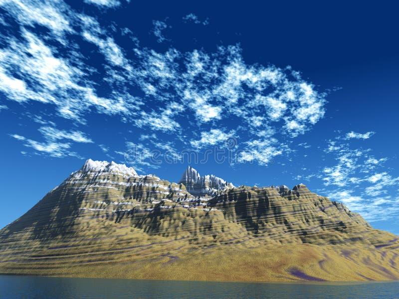 Berg - eiland royalty-vrije stock fotografie