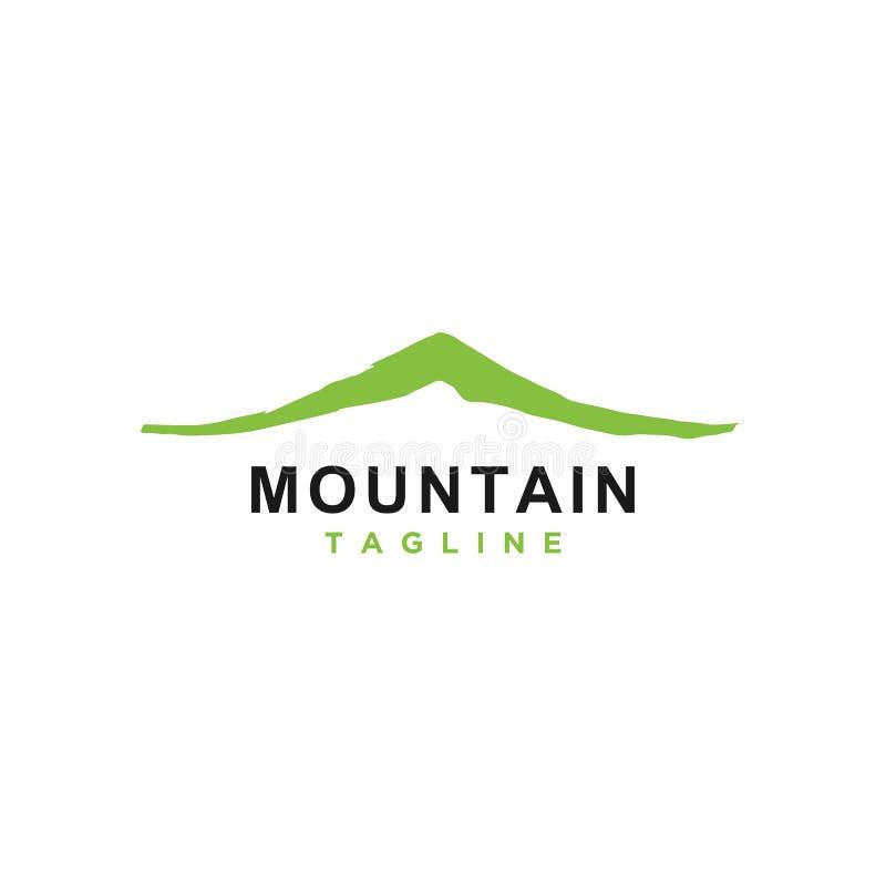 Berg eller kulle eller maximal logodesignvektor vektor illustrationer