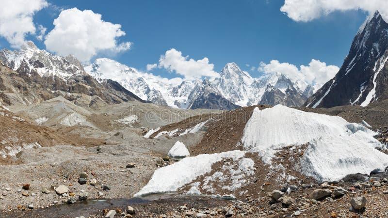 Berg en Gletsjersprookjesland stock foto