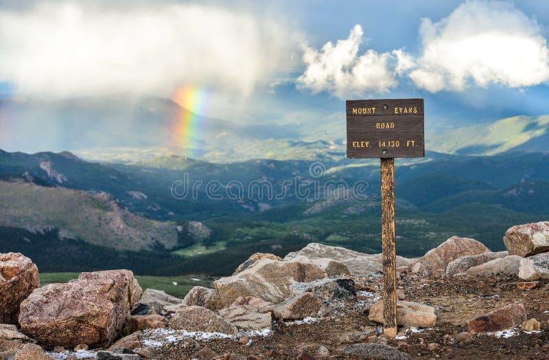 Berg Evans Summit lizenzfreie stockfotografie