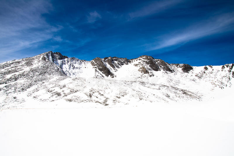 Berg Evans Summit - Colorado lizenzfreie stockfotografie