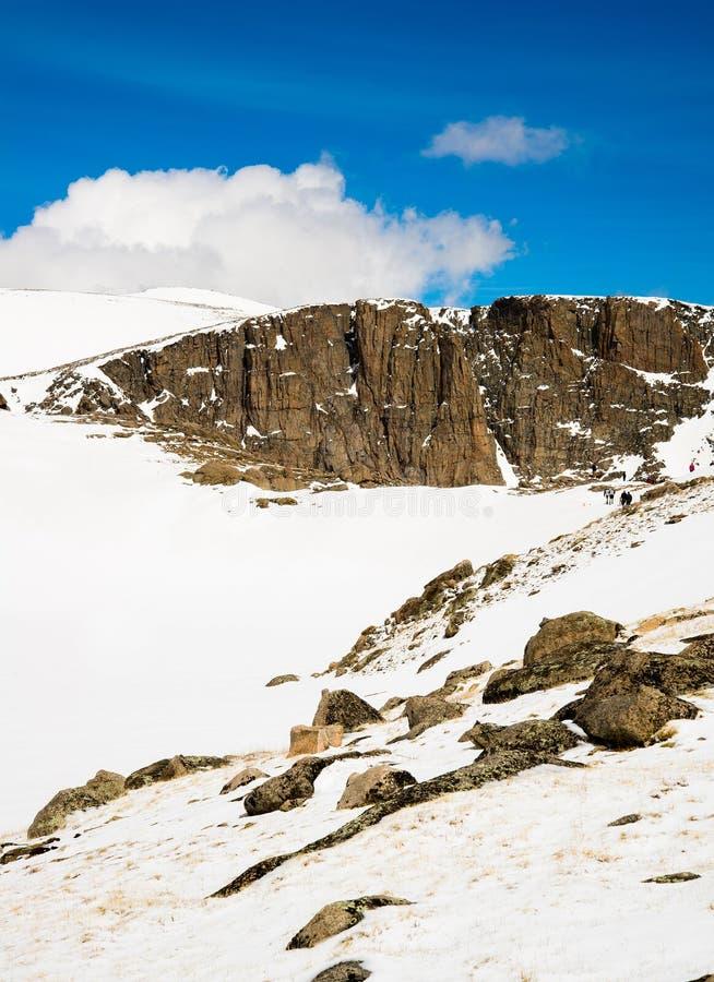 Berg Evans Summit - Colorado stockbilder
