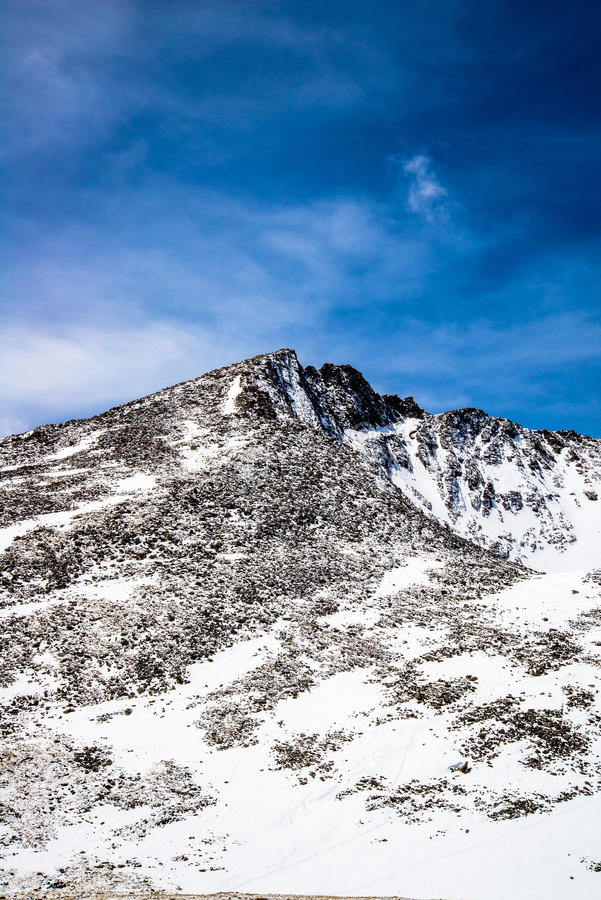 Berg Evans Summit - Colorado stockbild