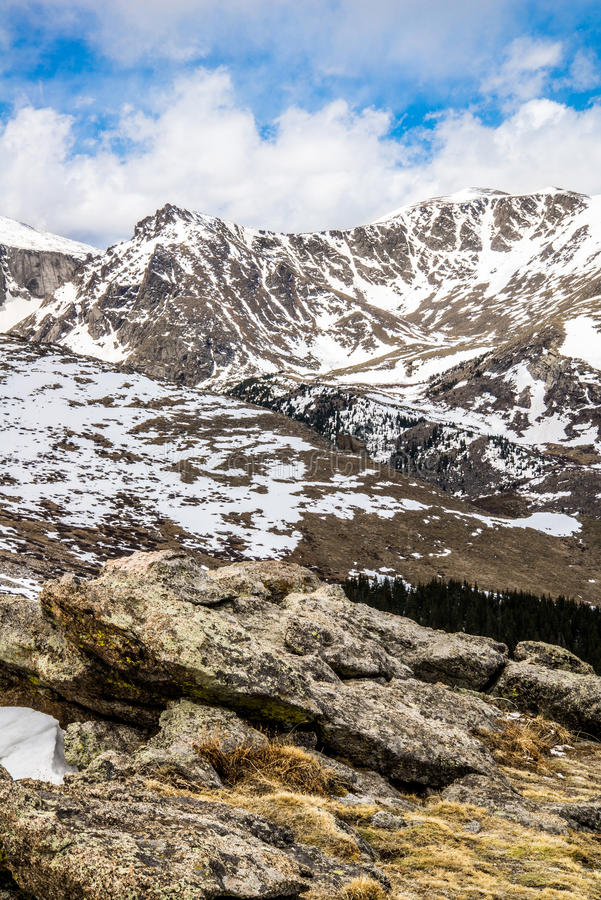 Berg Evans Summit - Colorado lizenzfreie stockfotos