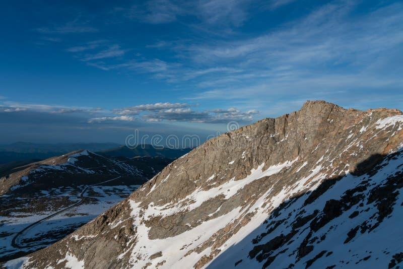 Berg Evans Summit lizenzfreies stockbild