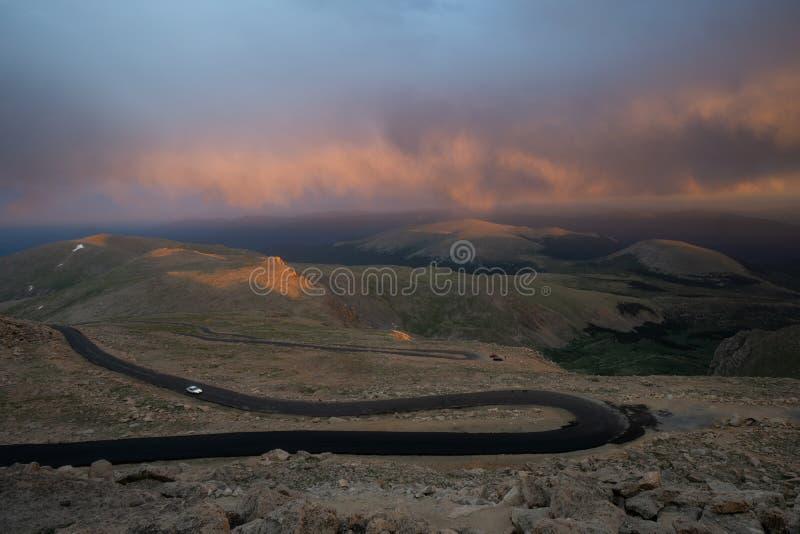 Berg Evans Sunset stockbild