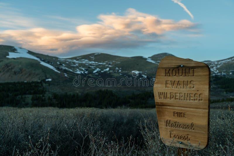 Berg Evans Wilderness Boundary stockbilder