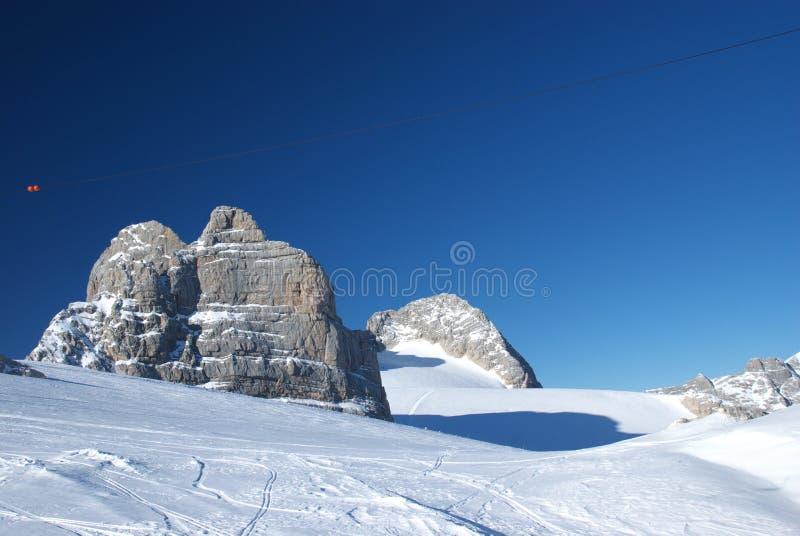 berg för 11 dachstein fotografering för bildbyråer