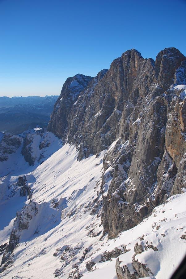 berg för 3 dachstein arkivfoton