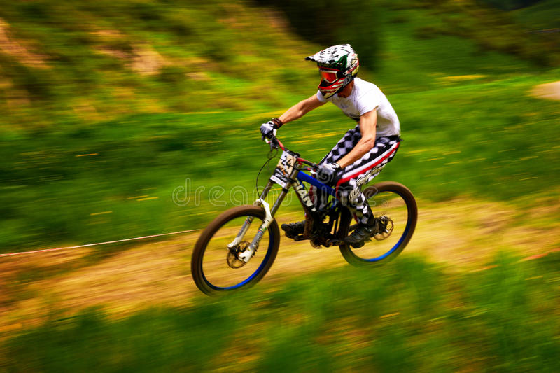 berg för cykelkonkurrensextreme royaltyfri foto