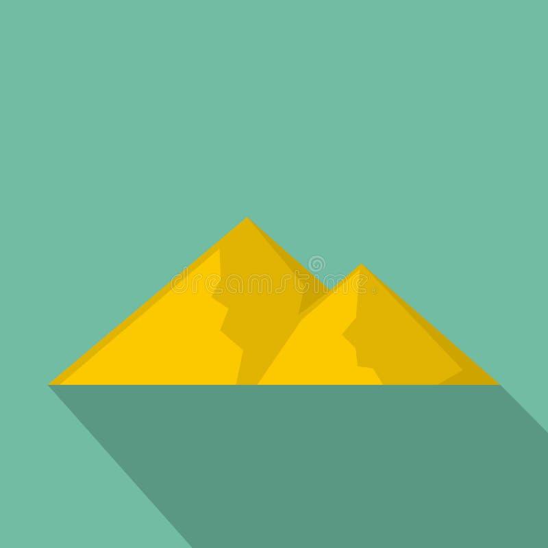 Berg för den extremal symbolen, lägenhetstil stock illustrationer