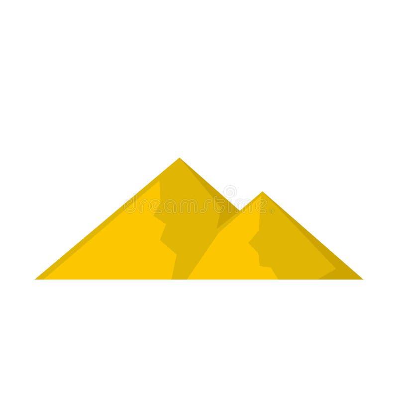 Berg för den extremal symbolen, lägenhetstil royaltyfri illustrationer