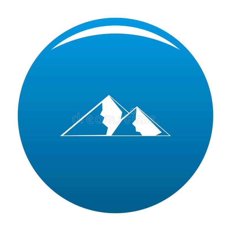 Berg för extremal symbolsblåttvektor vektor illustrationer