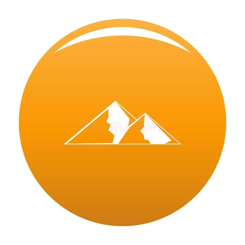 Berg för extremal symbolsvektorapelsin royaltyfri illustrationer