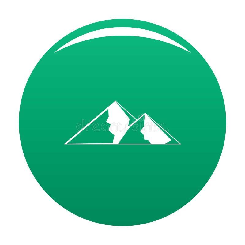 Berg för extremal symbolsvektorgräsplan royaltyfri illustrationer