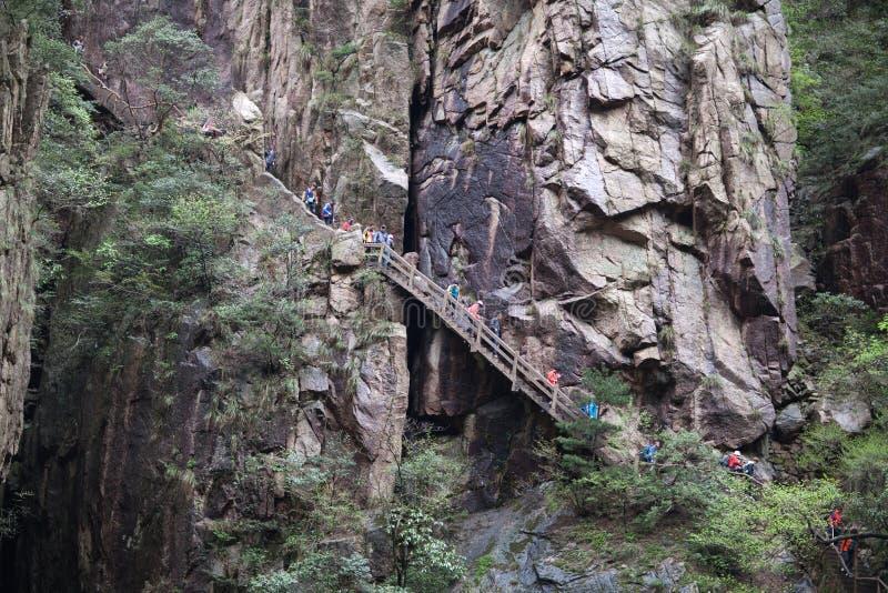 Berg för guling för Huangshan berg i Anhui, Kina fotografering för bildbyråer