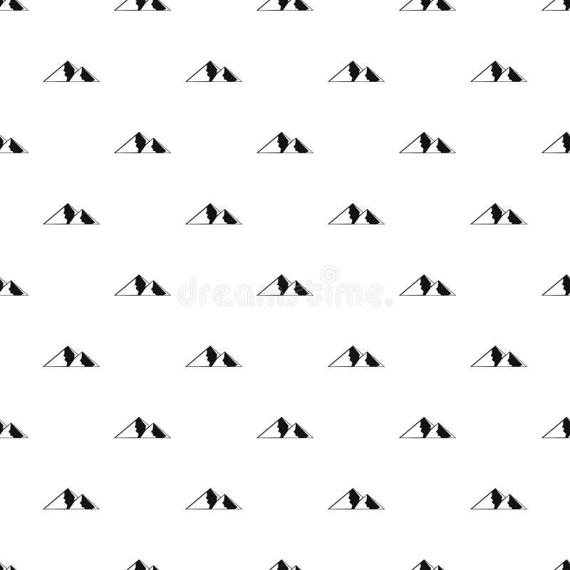Berg för sömlös vektor för extremal modell stock illustrationer