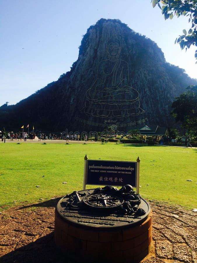 Berg för tempelsiktsBuddha royaltyfria foton