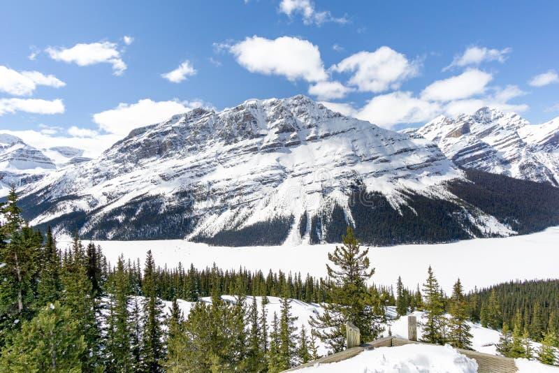 berg förbiser royaltyfria foton