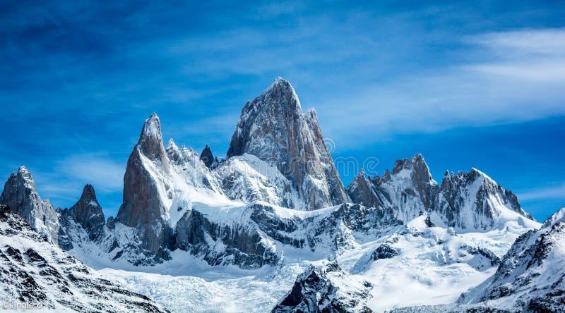 Berg Fitz Roy, EL Chaltén, Santa Cruz, Patagonia, Argentinien stockbild