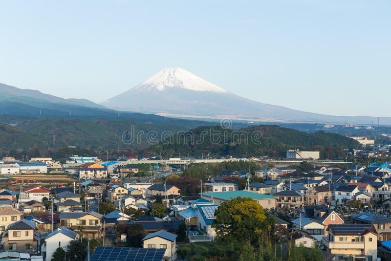 Berg Fuji in de stad van Shizuoka royalty-vrije stock afbeeldingen