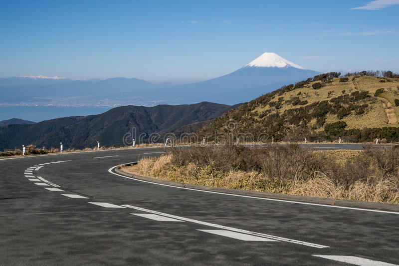Berg Fuji en Suruga-baai stock foto's